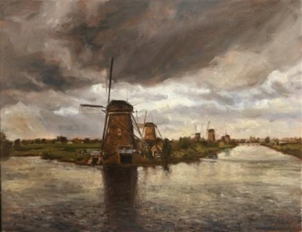 Windmills at Kinderdijk, near Dordrecht, Netherlands Kinderdijk is a World Heritage Site SOLD
