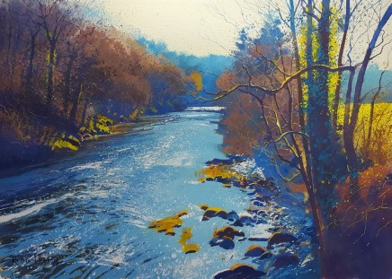 Blue afteroon (River Dart) SOLD