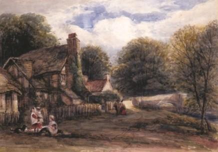 James Orrock RI Cottages near Ludlow
