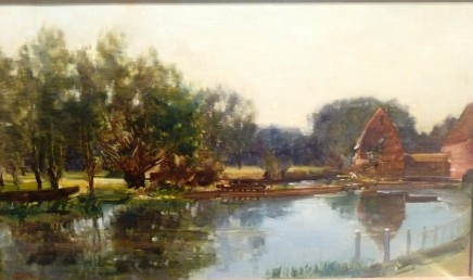 Robert Noble By tranquil waters, morning, Surrey