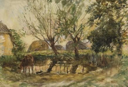 William Mark Fisher A Farmyard Pond