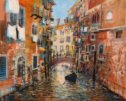 Venetian canal, summer SOLD