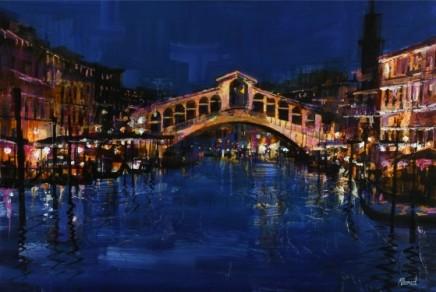 The Rialto Bridge at night SOLD