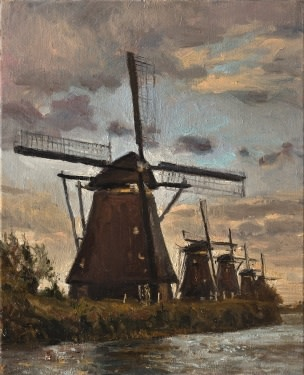 Five windmills
