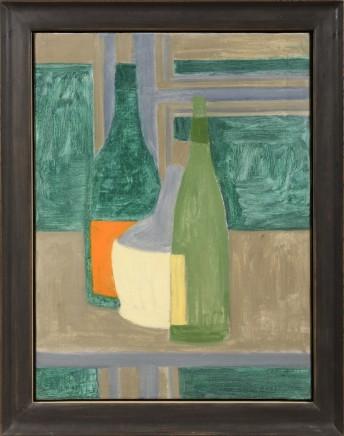 Two Green Bottles & Chianti Bottle c 1952-54