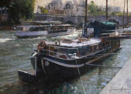Douglas Gray Boats on the Seine