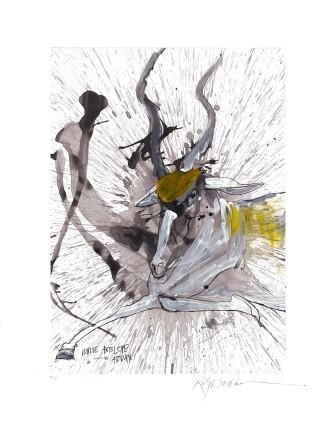 Ralph Steadman Addax (White Antelope) £635 (framed)