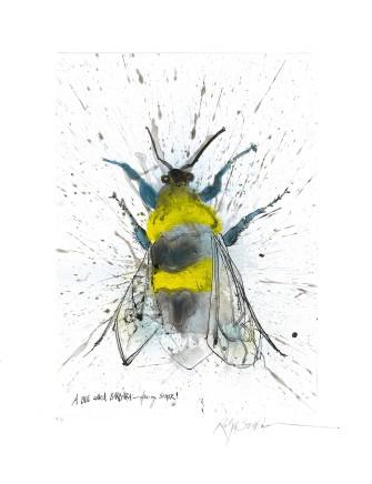 Ralph Steadman Garden Bumblebee £635 (framed)