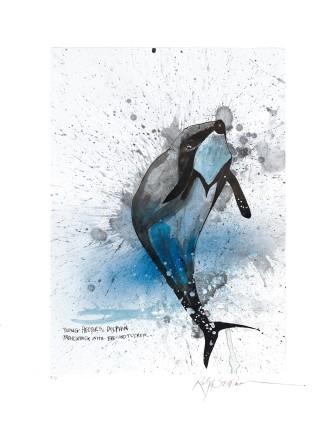 Ralph Steadman Hector's Dolphin £635 (framed)