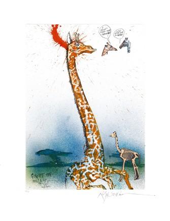 Ralph Steadman Giraffe £635 (framed)