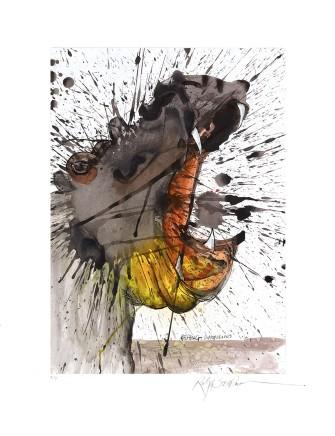 Ralph Steadman Hippopotamus £635 (framed)
