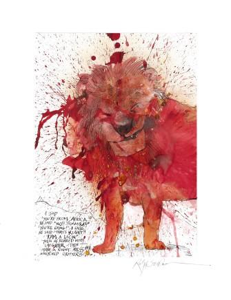 Ralph Steadman Lion £635 (framed)