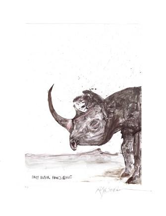 Ralph Steadman Black Rhinoceros £635 (framed)