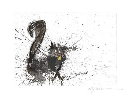 Ralph Steadman Rat-arsed Skunk £635 (framed)