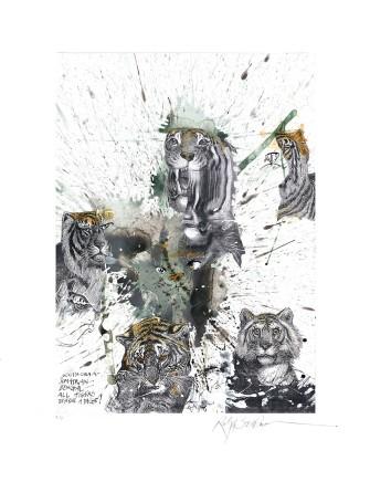 Ralph Steadman Tiger £635 (framed)
