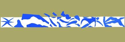 La Piscine - Panel A 35.5 x 103 cm, £850 For details please 'click' on image