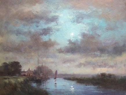 Moonlight On The Norfolk Broads