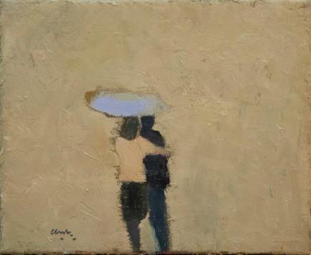 Michael G Clark PAI RSW Sharing an Umbrella SOLD
