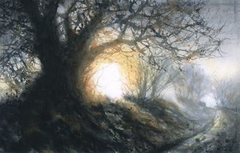 Big oak in the lane Ex-catalogue SOLD