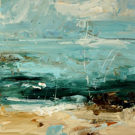 Louise Balaam, Pale turquoise sea, white surf