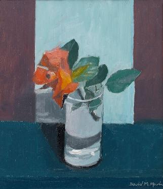 David Martin , Rose in a Clear Glass