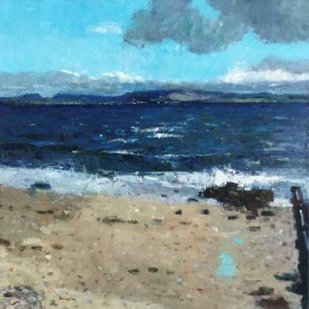 John Kingsley PAI RSW, Bowmore from Bruichladdich, Islay