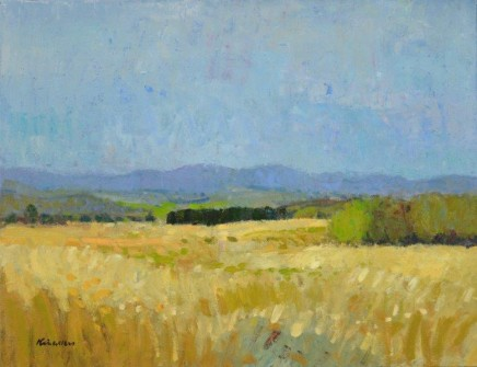 John Kingsley PAI RSW, Autumn Landscape, Galloway