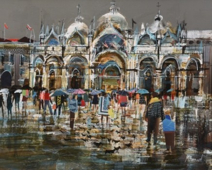 Mike Bernard R.I., Venice in the Rain