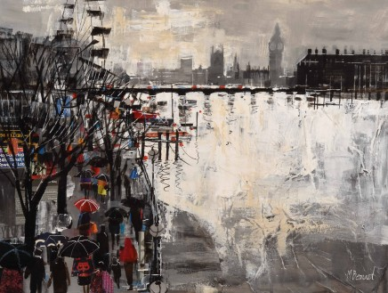 Mike Bernard R.I., Winter Light, the Thames