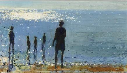 Kurt Jackson, Figures contre-jour, Sennen Beach 28.6.95