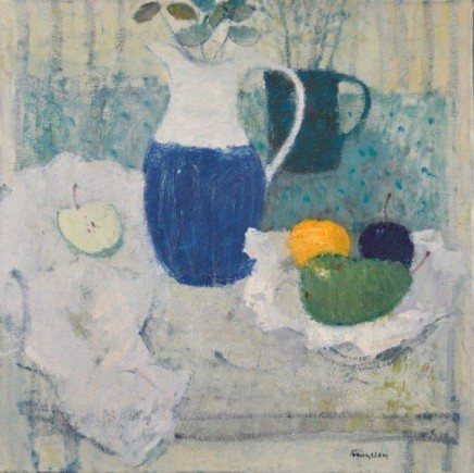 John Kingsley PAI RSW, Still Life with Water Jug and Fruit