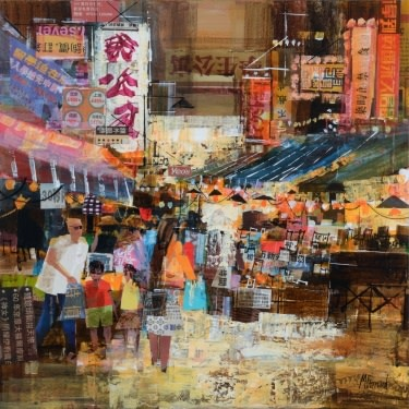 Mike Bernard R.I., Vegetable Market, Hong Kong