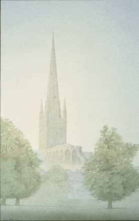 Gerard Stamp, Norwich Cathedral from the playing fields