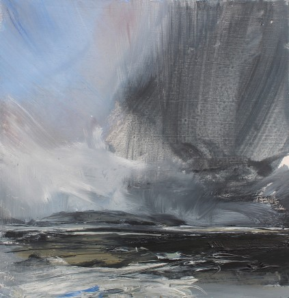 Janette Kerr Hon RSA PPRWA, Rain clearing over Foula, Shetland