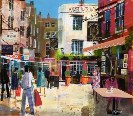 Mike Bernard R.I., Angel and Crown, London