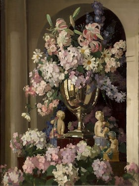 Herbert David Richter Study of Mixed Flowers