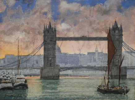 Jonathan Pike, Tower Bridge from Rotherhithe