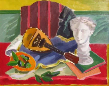 Jules Cavailles, Still life with Mandolin