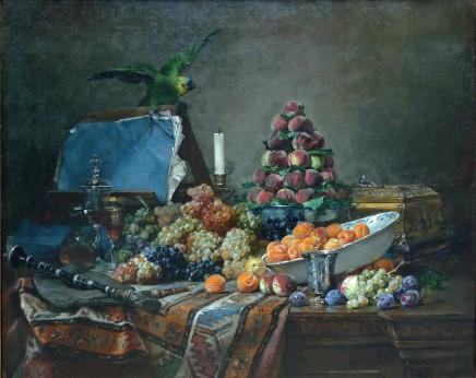 Denis Pierre Bergeret, Still life with Parakeet