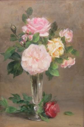 Achilles Theodore Cesbron, Roses in a vase