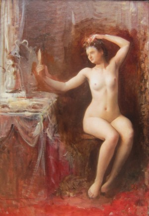 Louise Abbema, In the boudoir