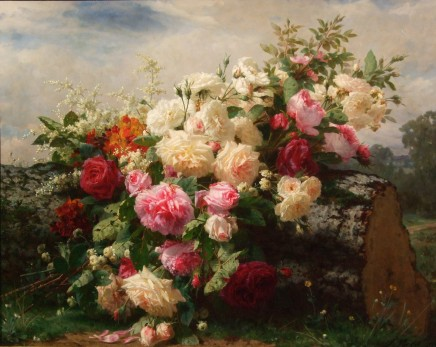 Jean-Baptiste Robie, Still life with flowers