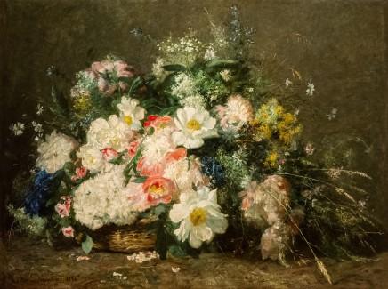 Adolphe-Louis Castex-Degrange, Flowers in a basket