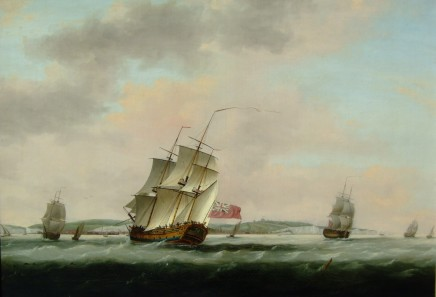Thomas Luny, Shipping off Dover