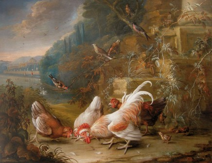 George William Sartorius, Birds and Fowl in a Landscape