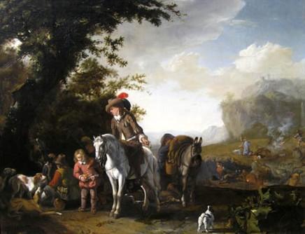 Abraham Hondius, Huntsmen taking refreshment