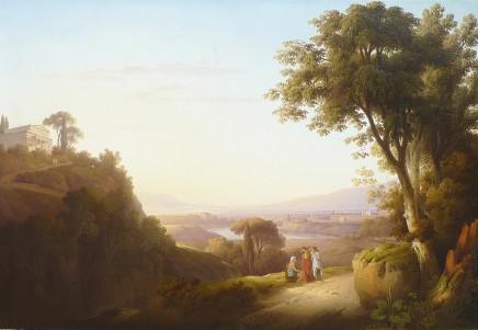 Robert Freebairn, View of Lake Albano and Castel Gandolfo