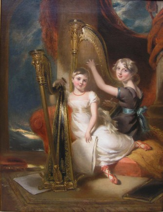 George Harlow, Portrait of Louisa and Eliza Sharpe