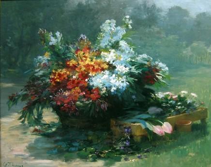 Gabriel Edouard Thurner, Still life of Spring Flowers