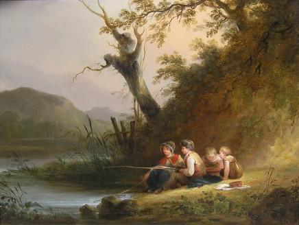 William Shayer, Children Fishing